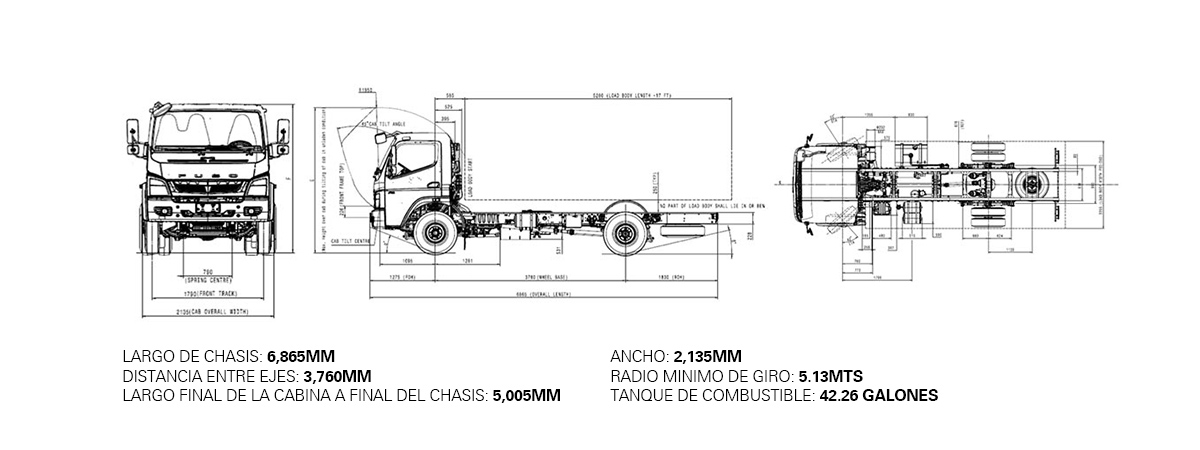 Dimensiones FUSO FA – 7 TON